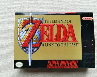 SNES Zelda Replacement Box Universal Video Game Case High Quality