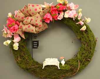 Superb Rose Wreath, Rose Garden, Home Sweet Home Wreath, Cottage Wreath, English  Garden