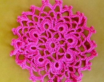 Doily pink