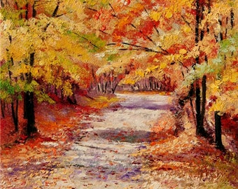 Autumn Leaves Original Oil on Canvas