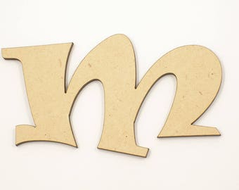 25cm MDF Wood Wooden Letters 3mm Thick RAVL