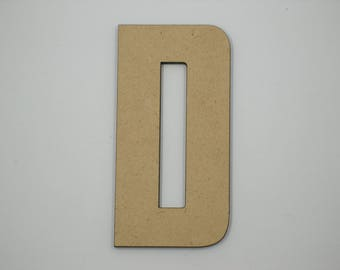 7.5cm MDF Wood Wooden Letters 3mm Thick CAP