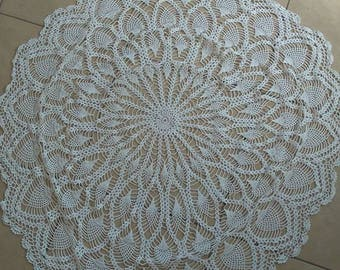 White Table Cloth Doily