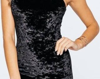 Height of velvet dress