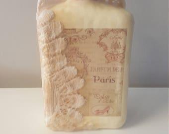Vintage Decor, Decorated Paris Perfume Bottle