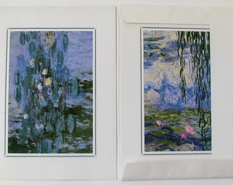 Quatre Illustrations des Nymphéas de Monet. Illustrations of the Nymphéas of Monet. Italy Edition