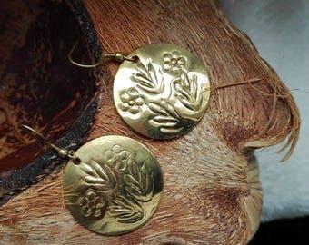 brass earrings gold colour