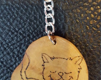 Hand made cat keyring(can be personalised)