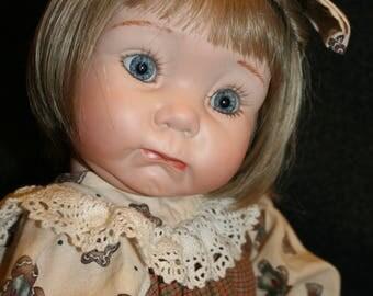 "Winnie Wuvs You ~ OOAK ~ 21"" Porcelain Reproduction Doll"