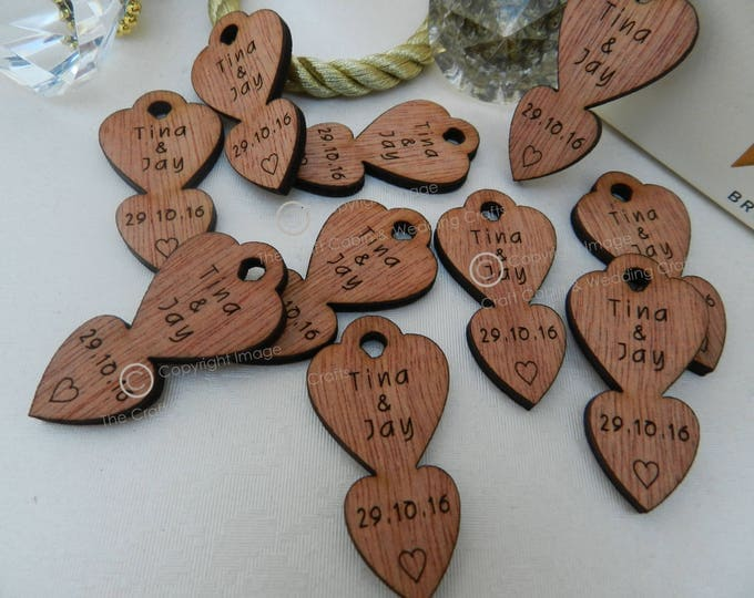 Personalised Locket Mini Love-Spoons, Favours, Table Decor, Vintage Wedding