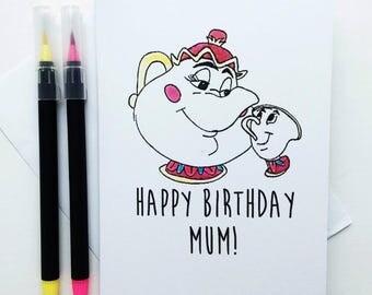 Beauty and The Beast - Happy Birthday Mum