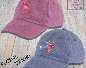 Vintage blue or pink cap