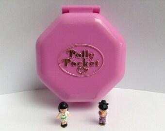 "Polly Pocket ""Suki's Japanese Tea House"" 100% complete, compact box pink house restaurant, Japanese garden, Tearoom, Bluebird 1990"