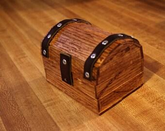Small Hand Made New Rustic Treasure box