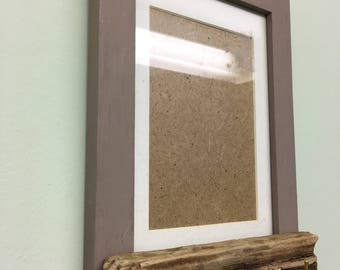 Bespoke Picture Frame Driftwood Key Holder. Great for trinkets or jewellery. Hand made, natural, up cycled item