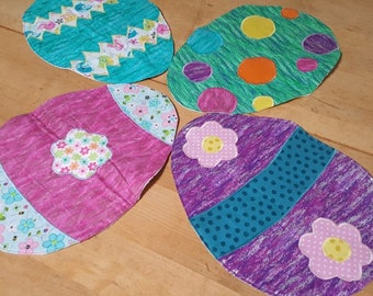 4 Easter Quilted placemats