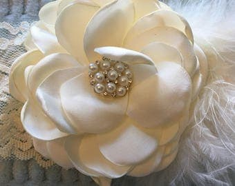 Toddler/Child Lace Ivory Floral Headband