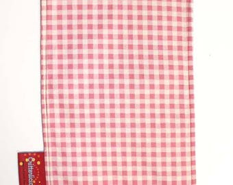 Critterlicious Pink Plaid Burp Cloth