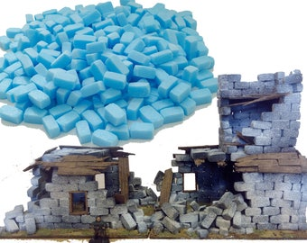 Foam Modelling Bricks - DIY Hobby - Wargaming Scenery and Terrain, Warhammer 40k Buildings & Ruins