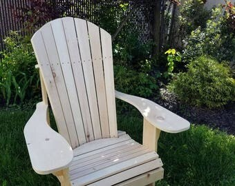 Easy Out Adirondack Chair Solid Pine, Local Pick Up, Made to Order