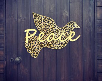 Peace GEO Dove Wall Decor Large
