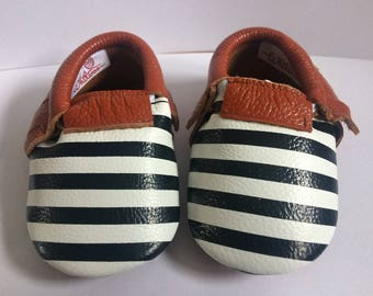 Humbug Whitwoobaby Beautifully Soft, Real Leather Moccasin Shoes for Babies and Toddlers