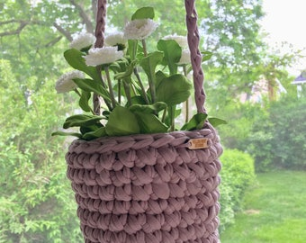 Hanging Planter (mauve)
