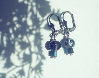 Purple Iridescent Earrings #012