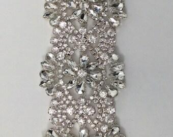 Silver rhinestone trim, crystal trim, wedding rhinestone trim, rhinestone chain, bridal trim, DIY accessories yard or wholesale