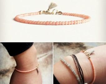 Summer Bracelet with Pink Coral