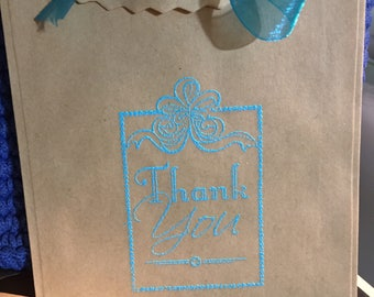 Set of 6 Thank you gift bags