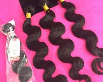 Peruvian Virgin Human Hair Wefts Bundle 300g Silky Straight Various Options Colour 1b-2