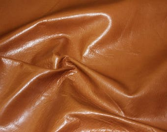 Roughly 48 sqft Genuine Cowhide Leather - Burnt Sienna