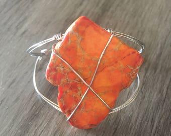 Orange Rustic Bracelet