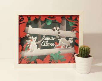 3D Lemur Illustration, Lemur Alone