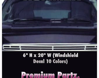 1950-2017 Hummer H2 H3  Vinyl Windshield Body Decal Sticker New Custom 1PC 10 Colors