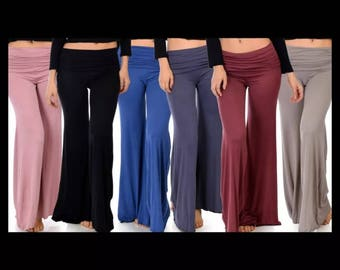 Women's Relax Fit Business or Casual palazzo flare pant