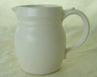 1 Quart Pottery Pitcher Marked McCoy, Plain, No Decoration