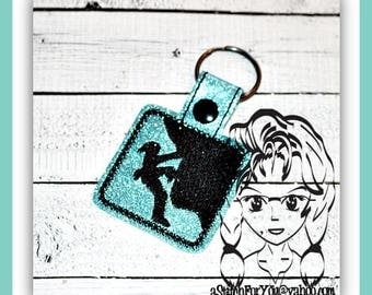 Rock CLiMBER # 3 - Key FOB Key Ring Snap Tab ~ In The Hoop ~ Downloadable DiGiTaL Machine Embroidery Design by Carrie