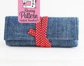 Peony Pen Pouch PDF Sewing Pattern | Pen and Pencil Case Small Tool Storage Bag with Flat Bottom Base