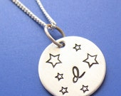 4 sterling necklaces with Hebrew letters RESERVED
