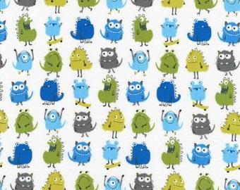 One yard Park Monsters Allover - Robert Kaufman, Suzy Ultman, Suzy's Minis cotton quilt fabric