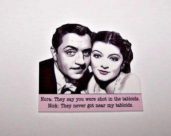 NICK & NORA Thin Man Noir Quote Pin