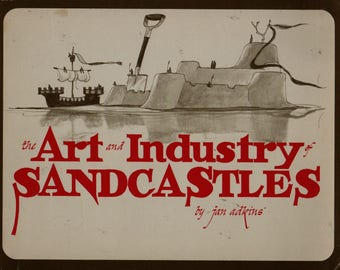 The Art and Industry of Sandcastles - Jan Adkins - 1971 - Vintage Kids Book