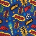 Weighted Blanket - Adult or Child - Superheros COTTON fabric - Choose weight (up to 14 lbs) and minky color - special needs - custom
