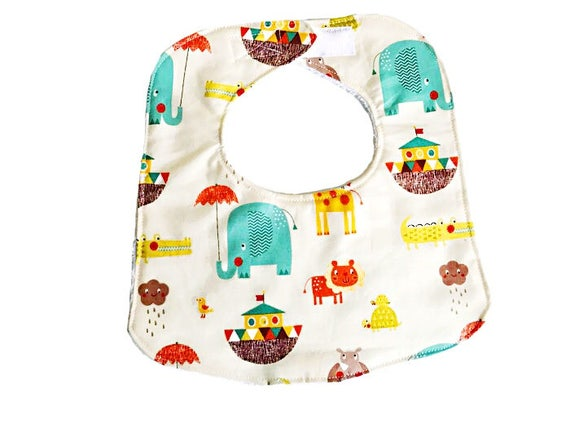 Baby Bib Giraffe Crossing, Baby Boy Bib, Infant Bib, Baby Shower Gift, Drool Bib