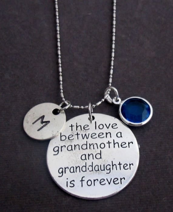 Personalized Grandmother Necklace,The love between Grandmother and Granddaughter is forever,Grandma &Granddaughter jewelry,Free Shipping USA
