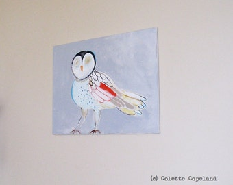 Owl, original painting, acrylic on canvas