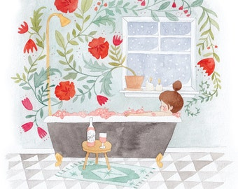 Rosé Bath 8.5 x 11 Print