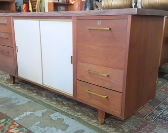 Vintage Credenza Office Storage Unit Shelf TV Stand Console Table Sofa Table Cabinet